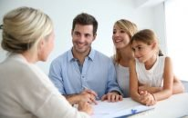 young family starting a financial plan